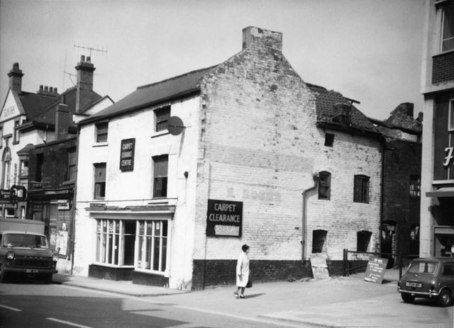 West Bars Shops before Demolition, Chesterfield, 1972