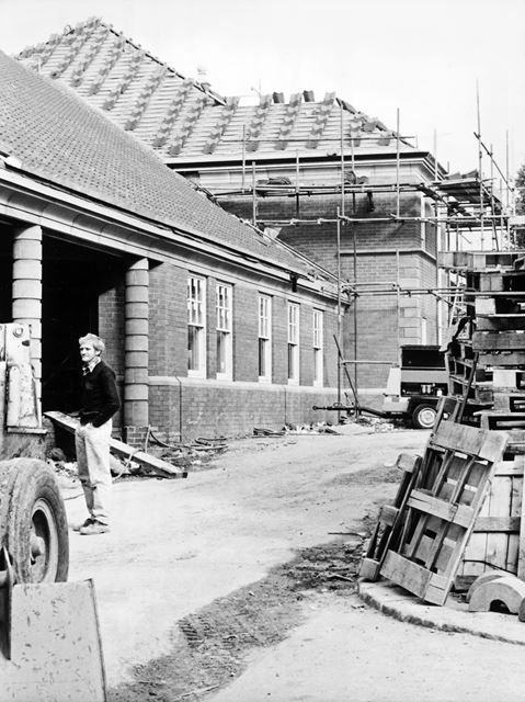 Construction of Revenues Hall, New Square, Chesterfield, 1989