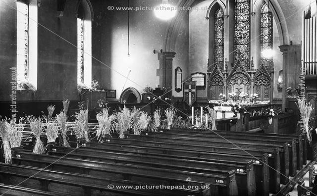 Harvest Festival, Holy Trinity Church, 31 Newbold Road, Chesterfield, 1947