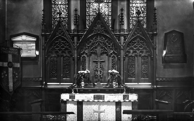 Altar and Reredos, Holy Trinity Church, 31 Newbold Road, Chesterfield, 1947