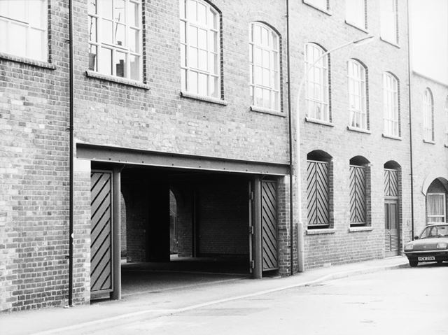 Flats in converted Robinsons Works, Chester Street, Chesterfield, c 1989