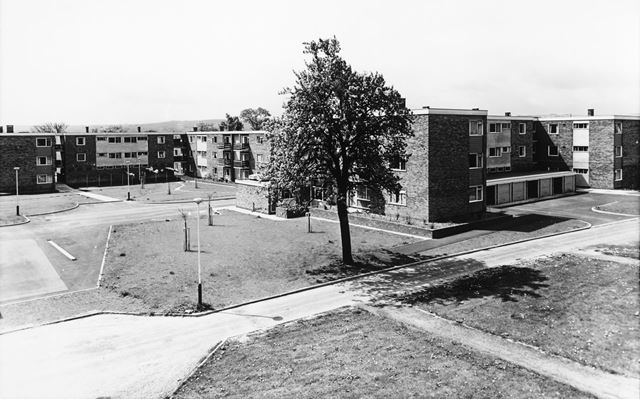 Council flats, Bonsall and Willsersley Court, Bowness Road, Newbold, Chesterfield, 1964