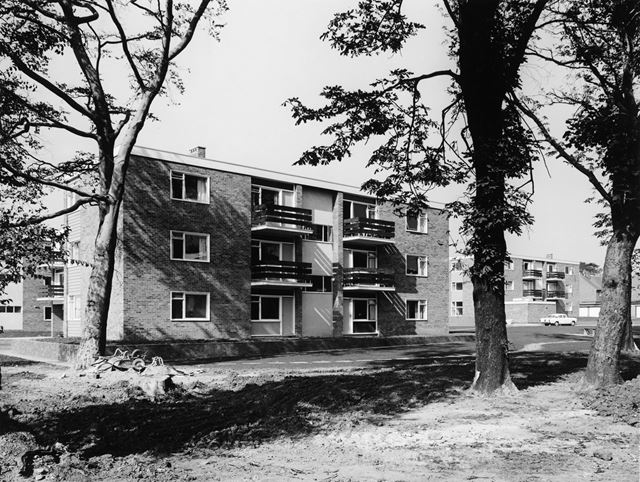 Council flats, Willsersley Court, Bowness Road, Newbold, Chesterfield, 1963