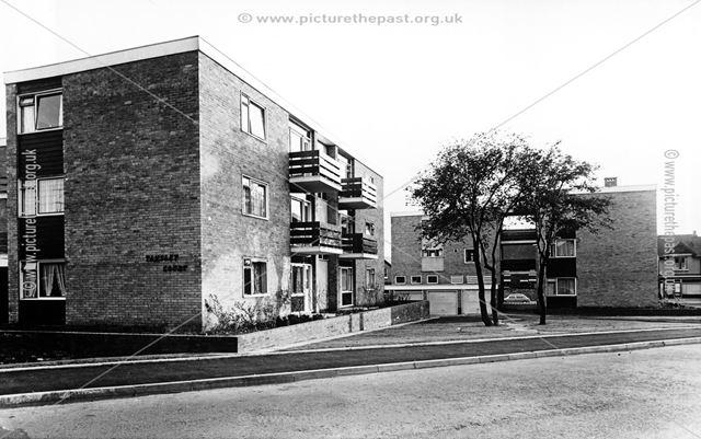 Tansley Court Flats, Highfield Lane, Newbold, Chesterfield, 1964
