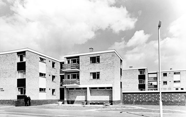 Birchover and Tansley Court Flats, Highfield Lane, Newbold, Chesterfield, 1964