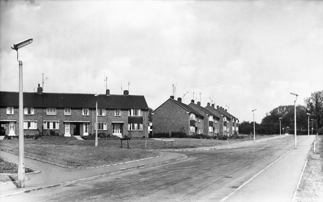 Codnar Drive from Dunston Lane, Newbold Chesterfield, 1961