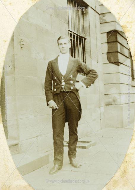 Unknown man Possibly in Dress Uniform, Sutton Rock House, Sutton Scarsdale, c 1910