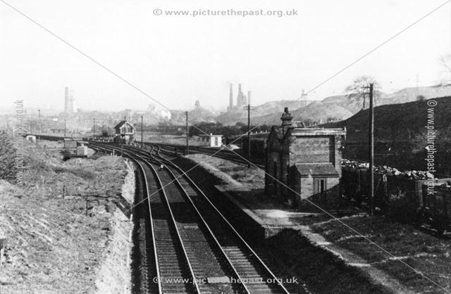 Remains of Grassmoor station, Grassmoor, c 1950s