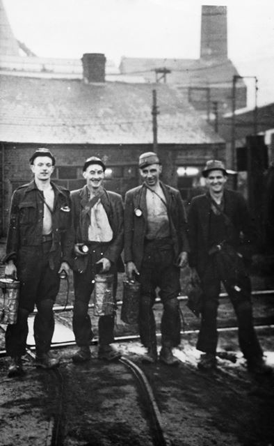 Coming off Last Shift, Grassmoor Colliery, Grassmoor, 1952