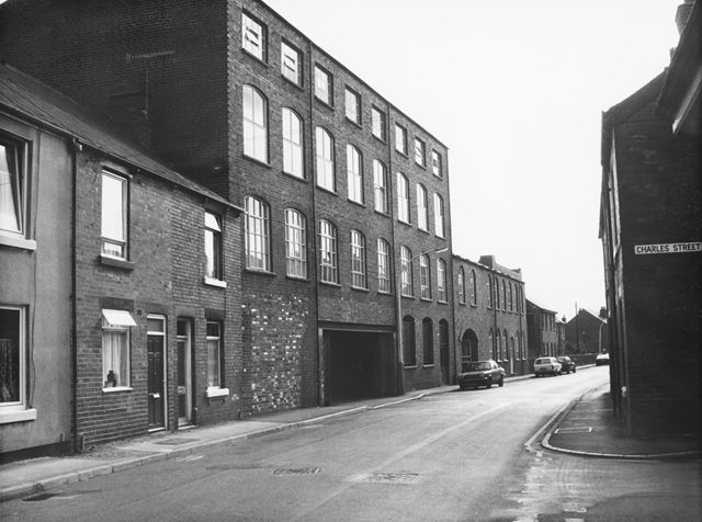 Flats in converted Robinsons Works, Chester Street, Chesterfield, 1989