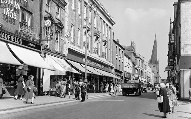 High Street, Chesterfield, 1952