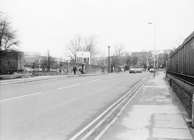 Boythorpe Road Looking North to West Bars Roundabout, Chesterfield, 1989
