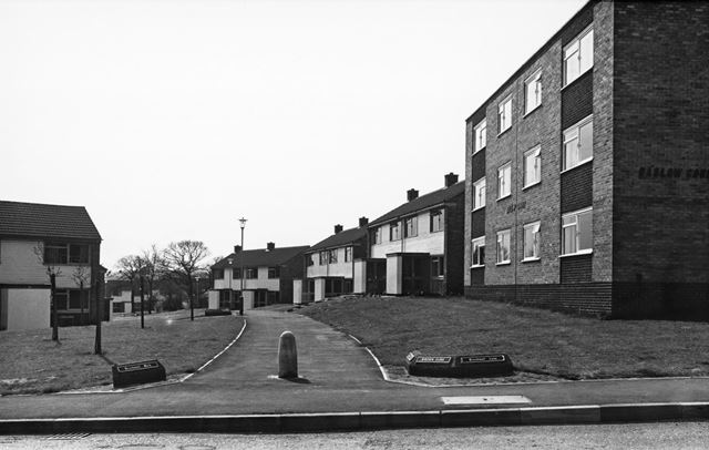 Baslow Court, Brockwell Walk from Brockwell Lane, Loundsley Green, Chesterfield, 1972