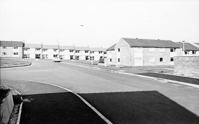 Cheedale Avenue View to Chasecliff CLose, Loundsley Green, Chesterfield, 1972