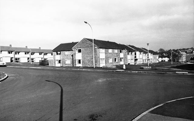 Loscoe Court from Cheedale Avenue, Loundsley Green, Chesterfield, 1972