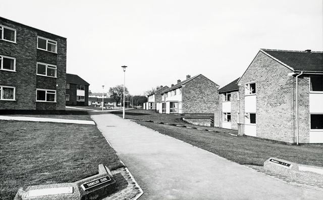 Yarncliffe Close from Red House Walk, Loundsley Green, Chesterfield, 1972