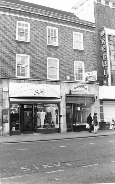 Shops and Regal Cinema on Cavendish Street, Chesterfield, 1994
