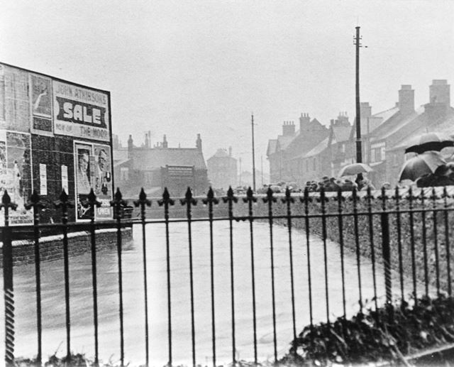 August Bank Holiday Floods, Chatsworth Road, Brampton, Chesterfield, 1922