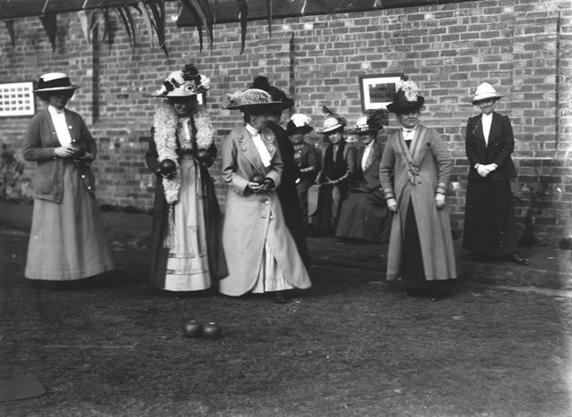 Ladies at the Bowling Club, New Beetwell Street, Chesterfield, c 1900