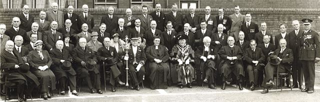 Council Members and Officials, Beetwell Street, Chesterfield, 1934