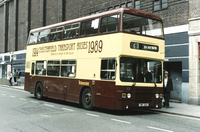 Corporation Bus, Cavendish Street, Chesterfield, 1989