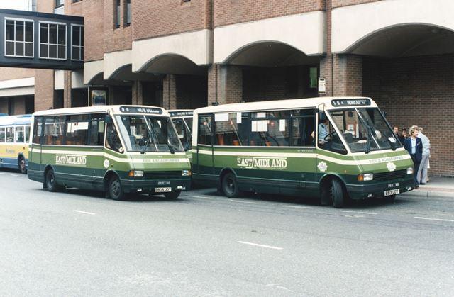 East Midland Buses, New Beetwell Street, Chesterfield, 1989