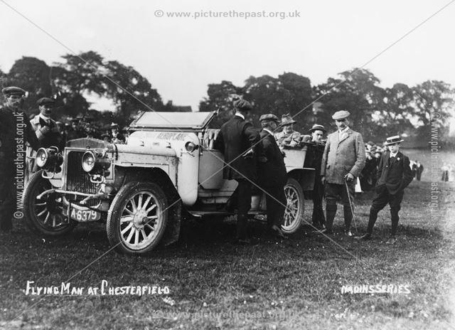 B C Hucks' Daily Mail Aeroplane Car, Brampton, Chesterfield, 1912