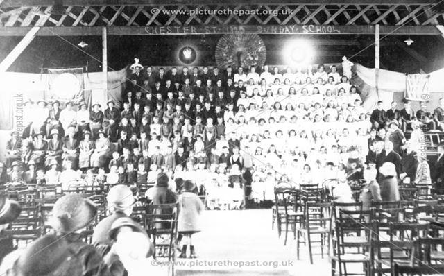 Sunday School Anniversary, Chester Street, Brampton, 1925