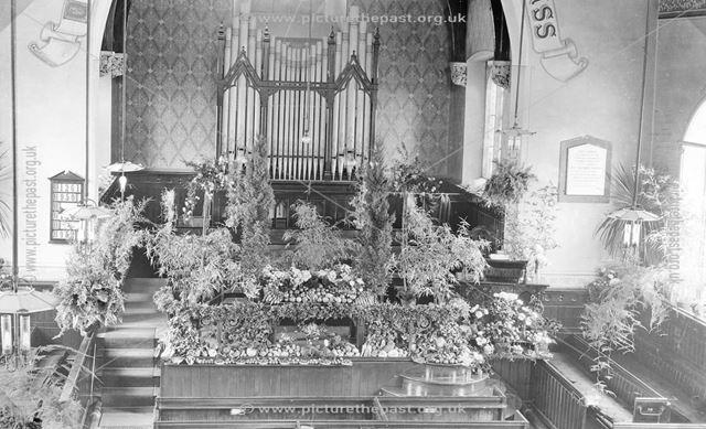 Congregational Church Harvest Festival, Brampton, Chesterfield, c 1913