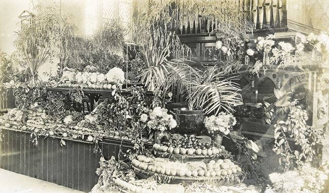 Congregational Church Harvest Festival, Brampton, Chesterfield, c 1910-20