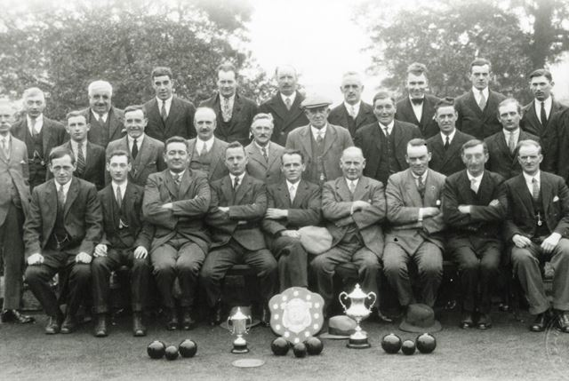 Bowling Club members, Chesterfield, c 1930s