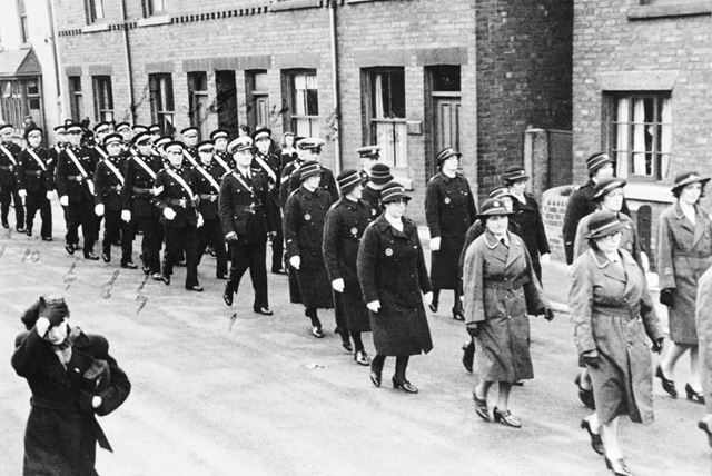 V E Day Parade of Colliery Street Ireland St Johns Ambulance