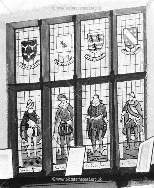 Stained Glass Window, Netherthorpe Grammar School Library, Staveley