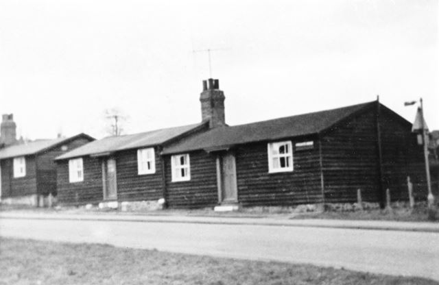 Wooden bungalows on Private Drive, Hollingwood, Chesterfield, c 1970s ?