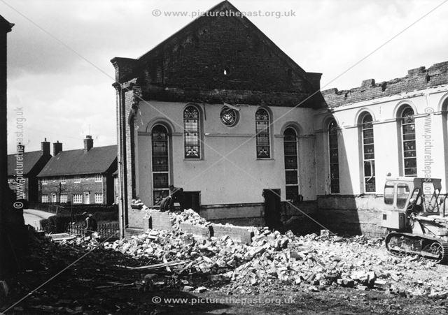 Demolition of the Zion Methodist Chapel