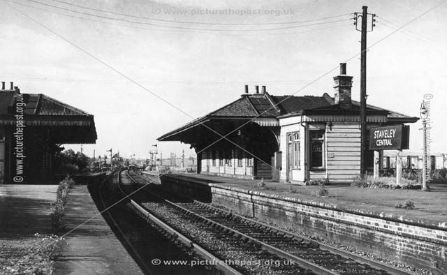 Staveley Central Railway Station, c 1960s