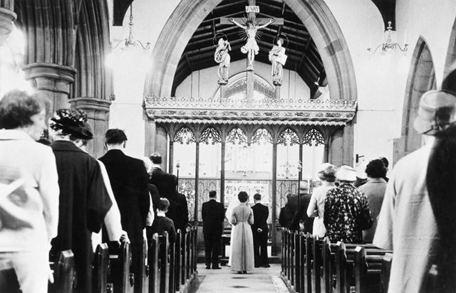 St John's Church, Staveley - interior showing the alter.
