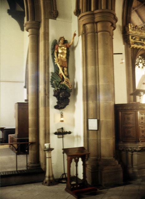 Miner's Shrine, St. John The Baptist Church, Church Street, Stavely, 1999