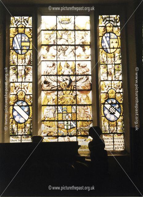 The Frecheville window, St John the Baptist Church, Church Street, Staveley, 1999