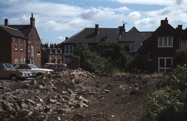 Waste Ground at rear of 'The Paper Shop', Staveley, c 1970s ?
