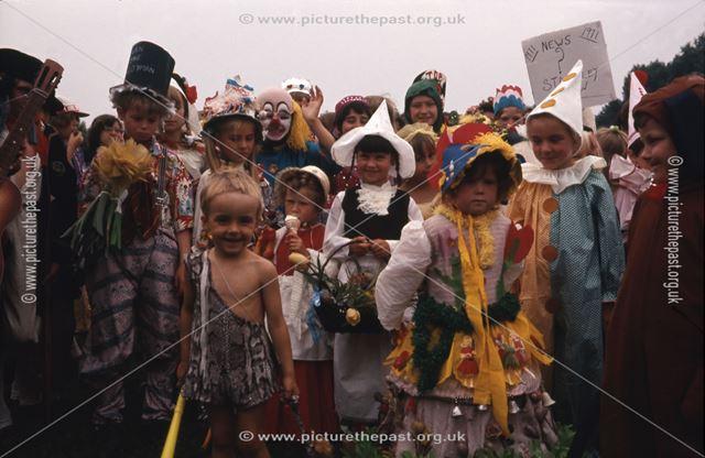 Children in Fancy Dress, Staveley, 1971