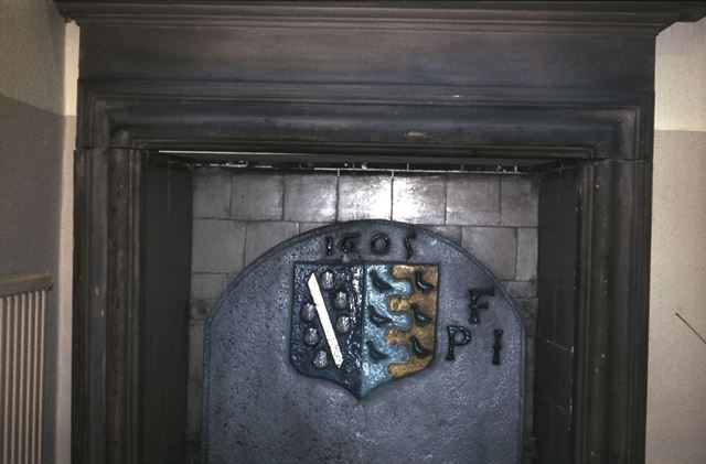 Staveley Hall - Crest in Fireplace, Church Street, Stavely, c 1970s