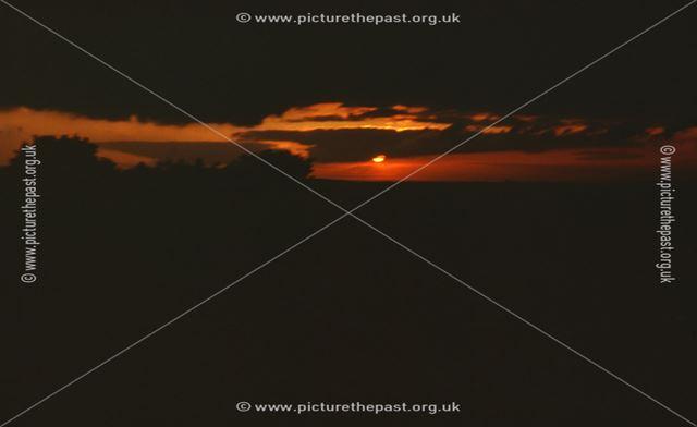 Sunset at Woodthorpe, nr Staveley, c 1960s-70s
