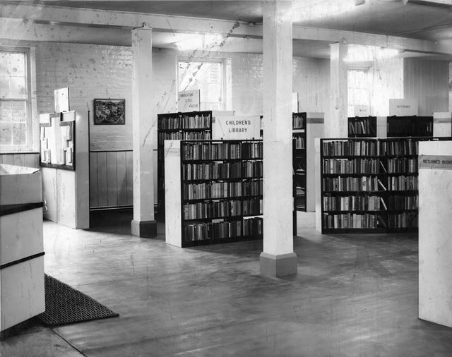 Library in Ebenezer Chapel Basement, Nottingham Road, Ripley, 1960s