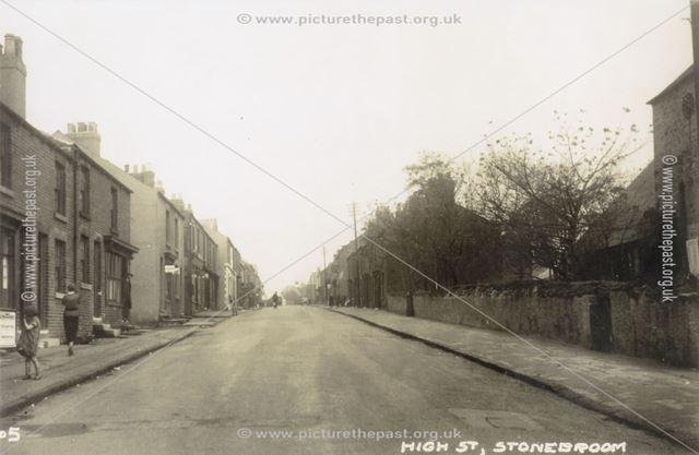 The Blocks Below the Church, High Street, Stonebroom, c 1940