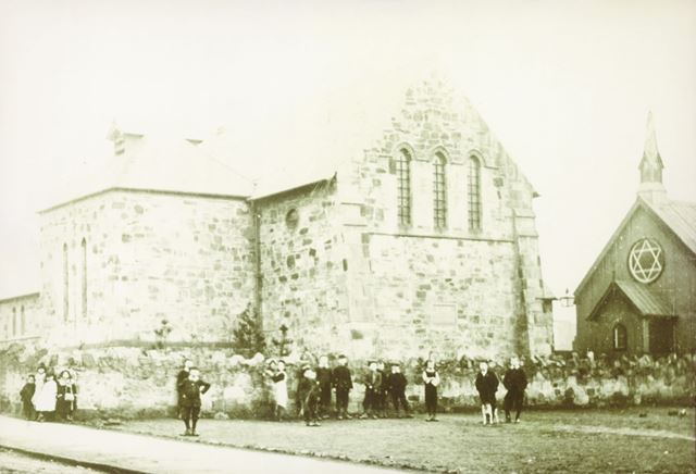 Church and Church Hall, High Street, Stonebroom, c 1900
