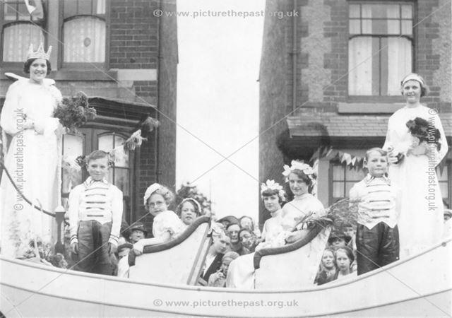 Carnival Float, High Street, Stonebroom, c 1950