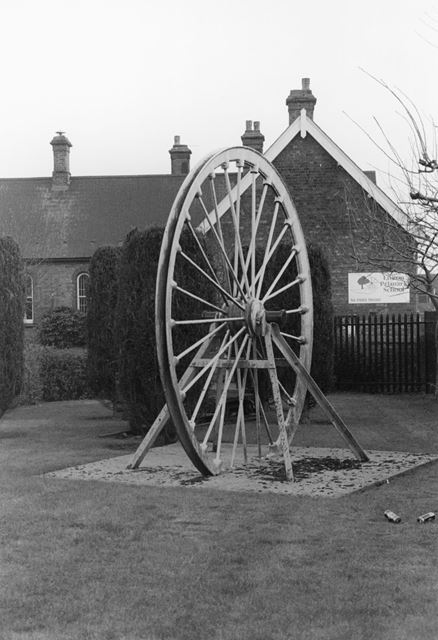 Colliery Wheel in Grounds of Linton Primary School, Main Street, Linton, 2002
