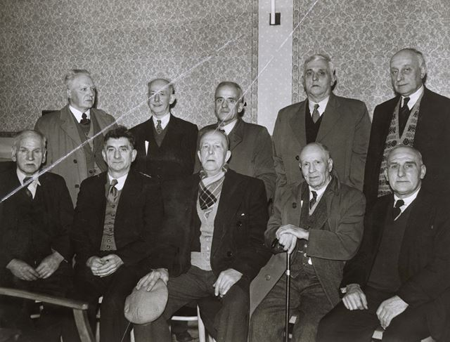 Long Service Miner's Presentation, Miner's Welfare Club, Nottingham Road, Ripley, 1956