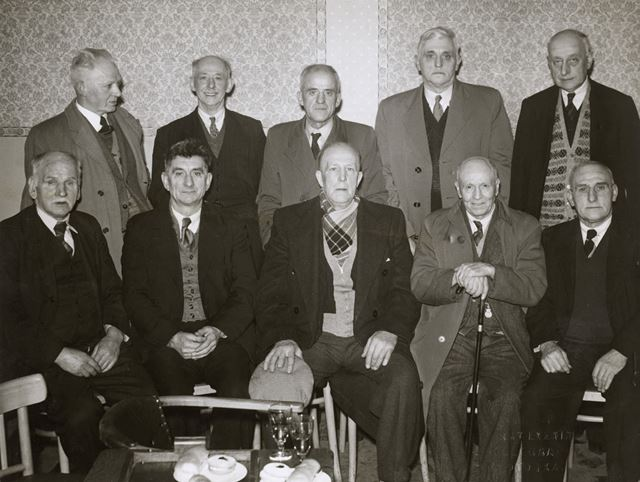 Long Service Miner's Presentation, Miner's Welfare Club, Nottingham Road, Ripley, 1956